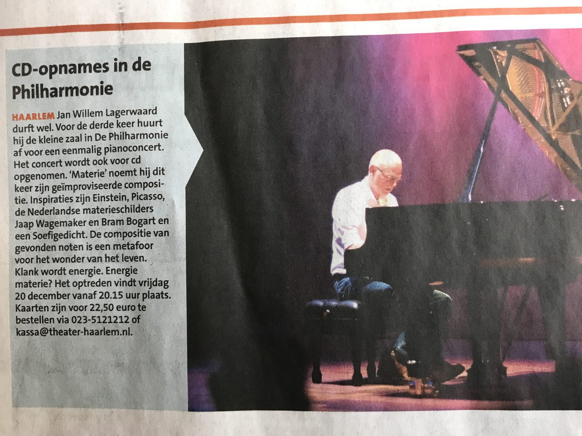 Haarlems weekblad materie door Willem Brand